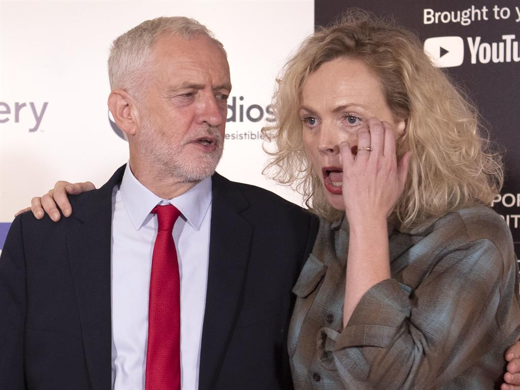 Maxine Peak with Corbyn