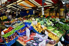 veg market stalls